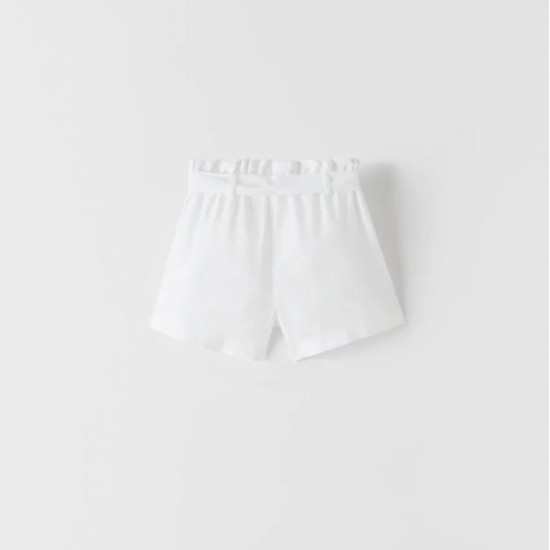 Bermuda Shorts With Maxi Pockets and Belt