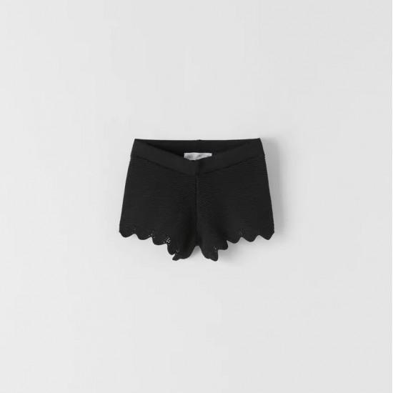 Crochet Knit Bermuda Shorts