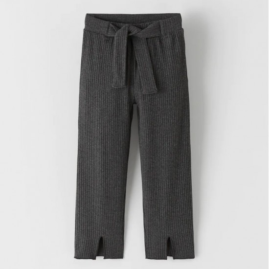 Ribbed Trousers With Vents