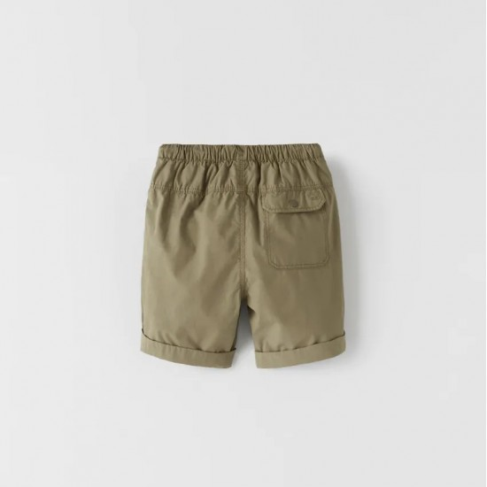 Basic Poplin Bermuda Shorts