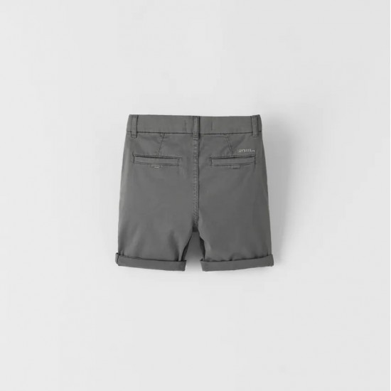 Garment-Dyed Chino-Style Bermuda Shorts