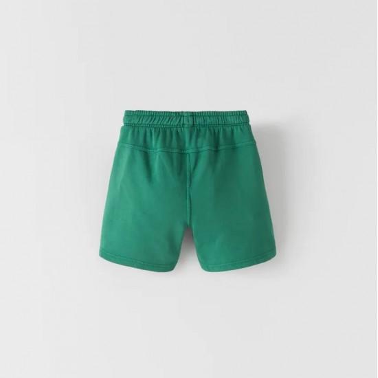 Garment-Dyed Plush Bermuda Shorts