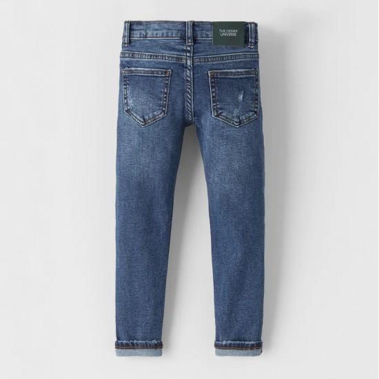 Pure Indigo Destroyed SkinnyJeans