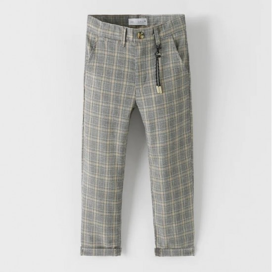 Check Trousers With Key Ring