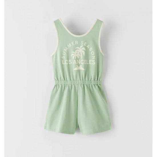 Short Printed Jumpsuit