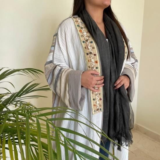 Off White Women's Abaya