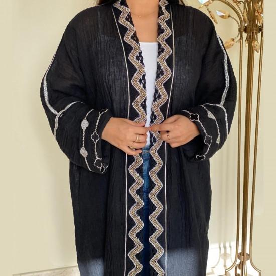 Black Embroidered Women's Abaya