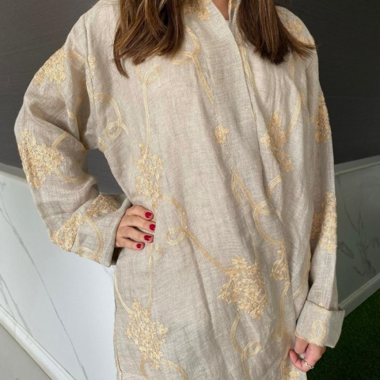 Women's Abaya Embroiderd in Gold