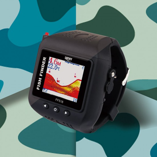 Lucky FF518 Wireless Sonar Watch Fish Finder for Fishing